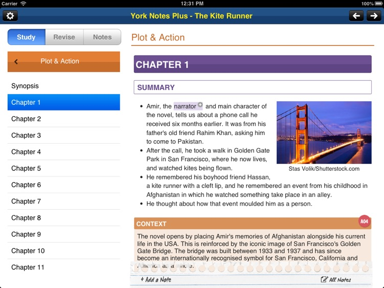 The Kite Runner York Notes AS and A2 for iPad