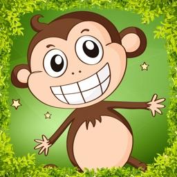Monkey Jump - Bananas & Letters