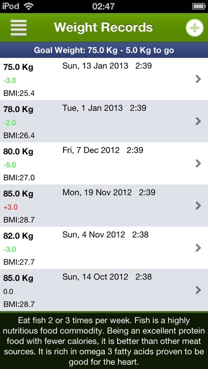 Diet Assistant - Weight loss screenshot-3
