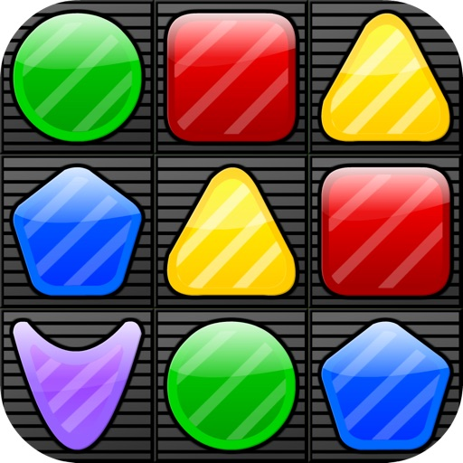 Shape Matcher Free - The Best Swap & Match-3 Puzzle Mania icon