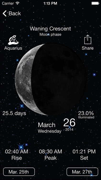 Solar Moon - Phase Calendar & Sun Info Tracker screenshot-4