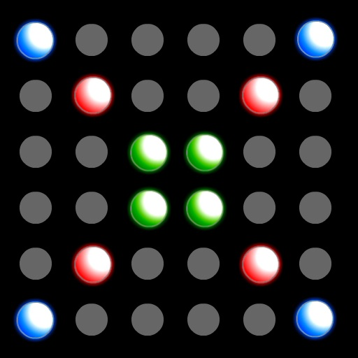 Black Light - colored dot drawing icon