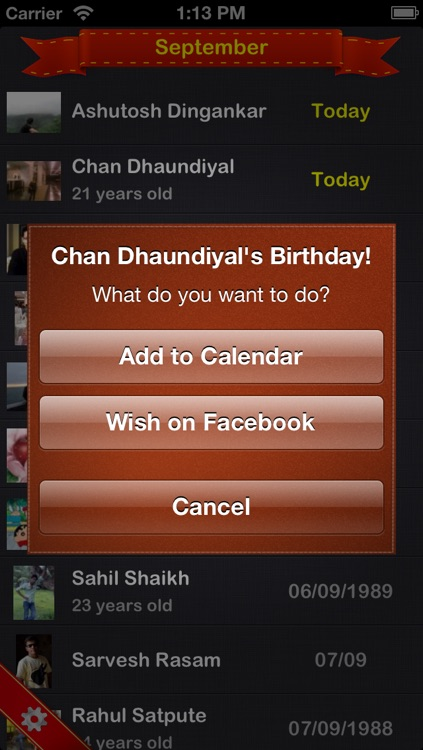 Birthdays - A Beautiful Birthday Reminder App