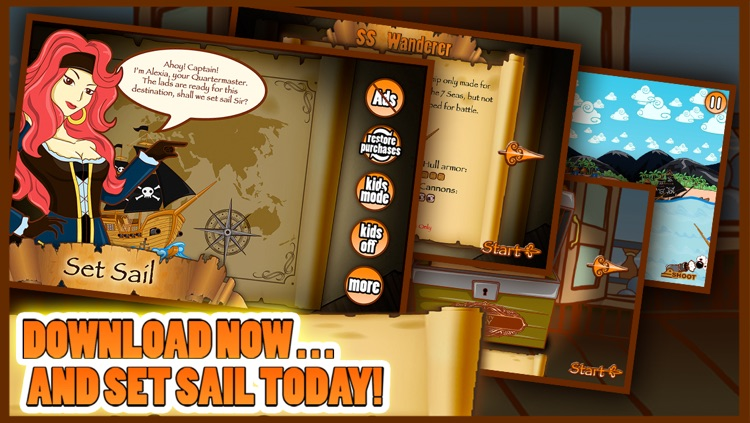 7 Seas Pirates Adventure Kids Game With Top New Shooting Pirate Ships And Fun FREE screenshot-3