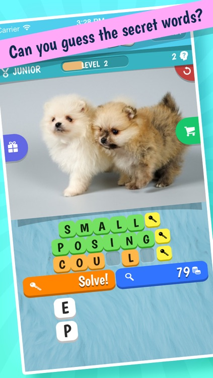 3 Words: Cute Animals – a word game based on cuddly animal pictures screenshot-3