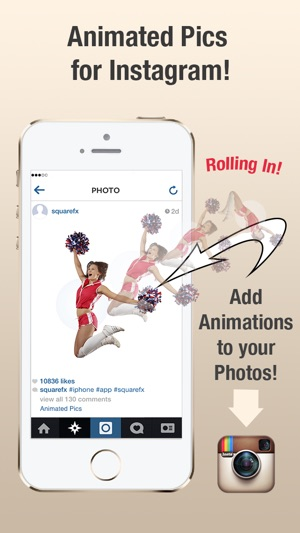 Animatedpics create animation watermark for instagram on the app iphone screenshots ccuart Image collections