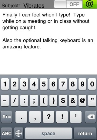 Vibrating Email Keyboard