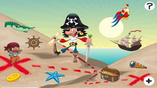 兒童遊戲2-5歲對海景的海盜:學會數數1-10幼兒園,學前班或幼兒園與海盜,船長,鸚鵡,百寶箱,鱷魚和船舶屏幕截圖1