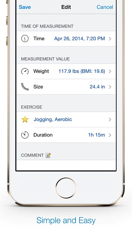 Weight Size Diary free screenshot-3