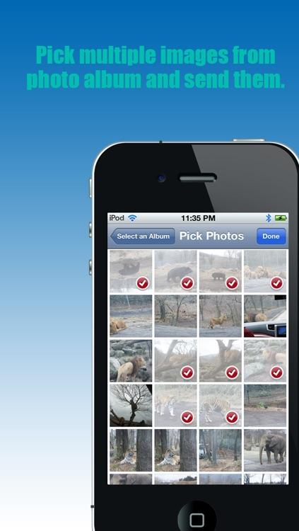"Bluetooth - ""Transfer photos & files via bluetooth (For iPhone, iPod & iPad)"""