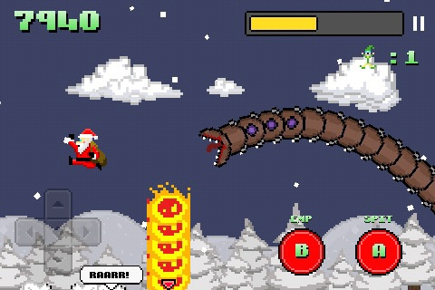 Super Mega Worm Vs Santa screenshot-4