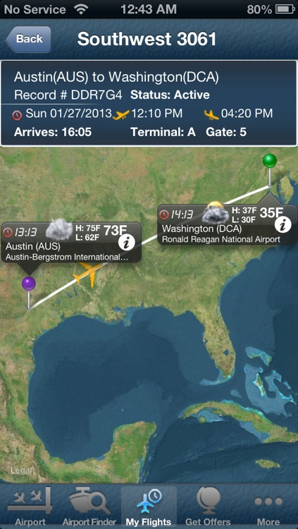 Washington Reagan National Airport-Flight Tracker DCA