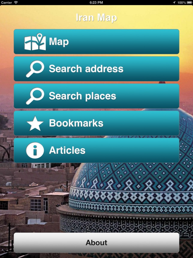 Iran Offline Map PLACE STARS