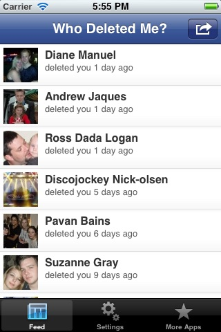 Who Deleted Me? for Facebook