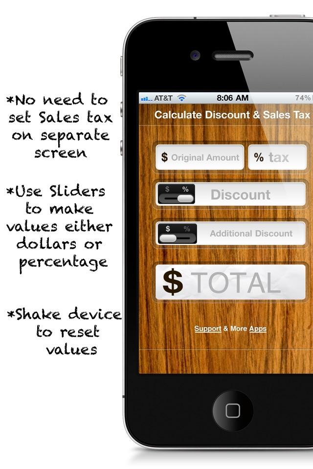 Calculate Discount & Sales Tax FREE Screenshot
