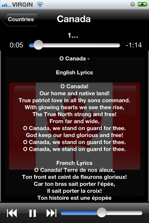 World National Anthems (With Lyrics)