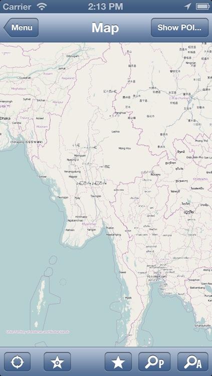 Burma (Myanmar) Offline Map - PLACE STARS