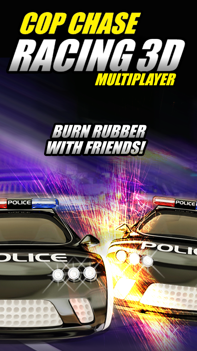 A Cop Chase Car Race 3D PRO 2 - Police Racing Multiplayer Edition HDのおすすめ画像1