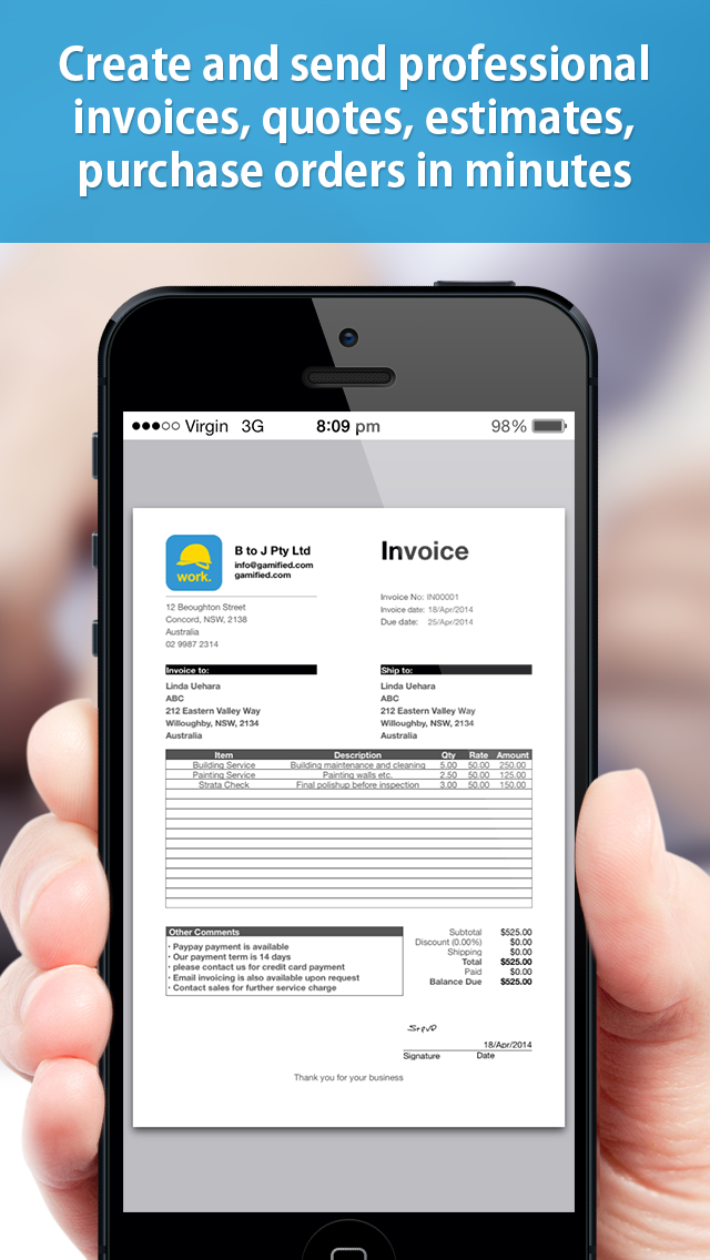 Contractor paperwork Pro - Create site diary, invoice,