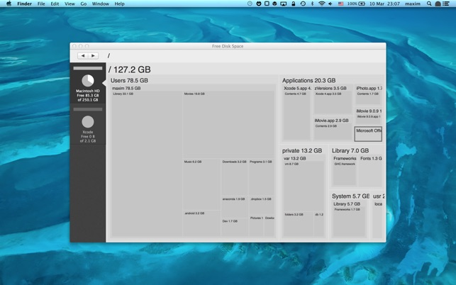 Free Disk Space on the Mac App Store