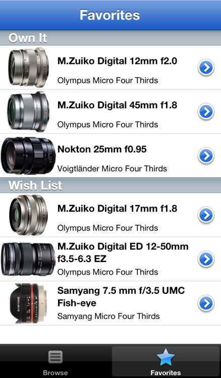 Olympus Lens Buddy - Lenses for Olympus cameras