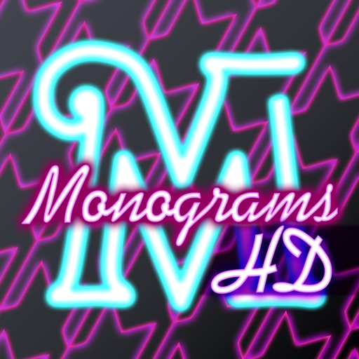Neon Monogram HD - Designer Wallpaper, Icon Skin Monograms and Customized Backgrounds