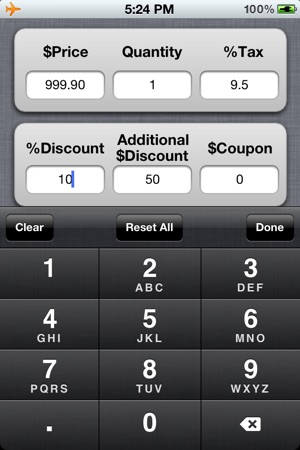 discount shopping list free with sales tax coupon on the app store