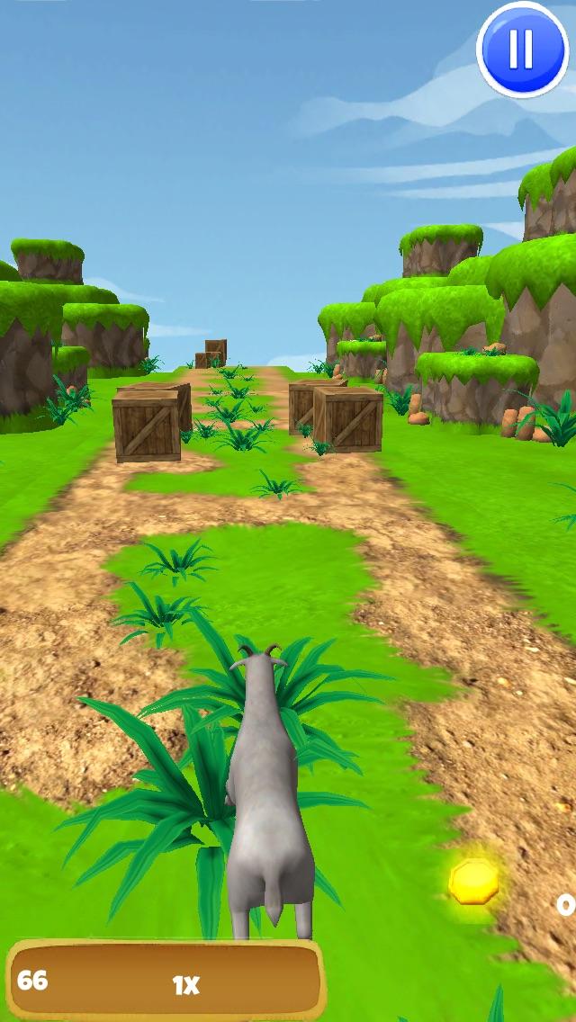 3Dヤギの脱出 - クレイジー暴れF2Pゲーム版 - 無料のスクリーンショット2