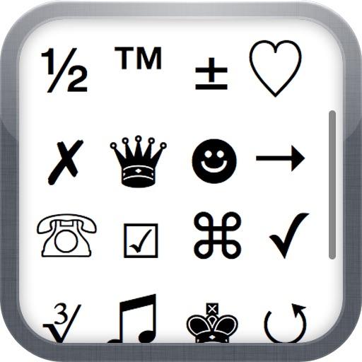 Characters 2012 - extra symbols, emoji and ascii chars