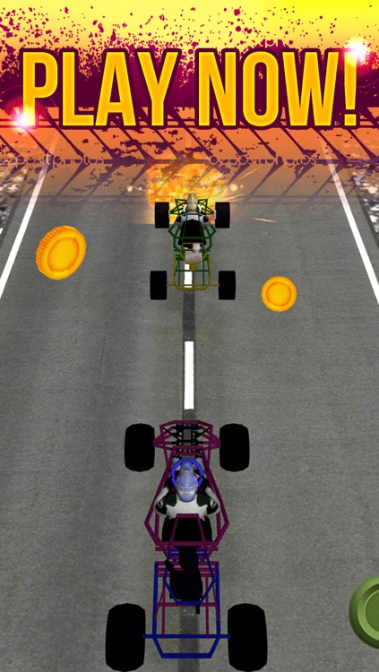 3D Go Kart Racing Madness By Street Driving Escape Simulator Game For Teens Free screenshot-4