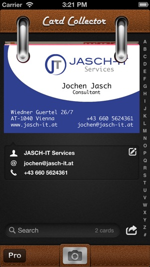 Card collector business card organizer on the app store iphone screenshots colourmoves Images