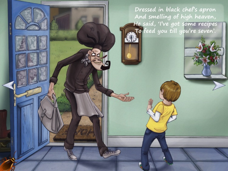 Feed-'Em Fred (The Chef of Dread) interactive storybook (for iPad) screenshot-1