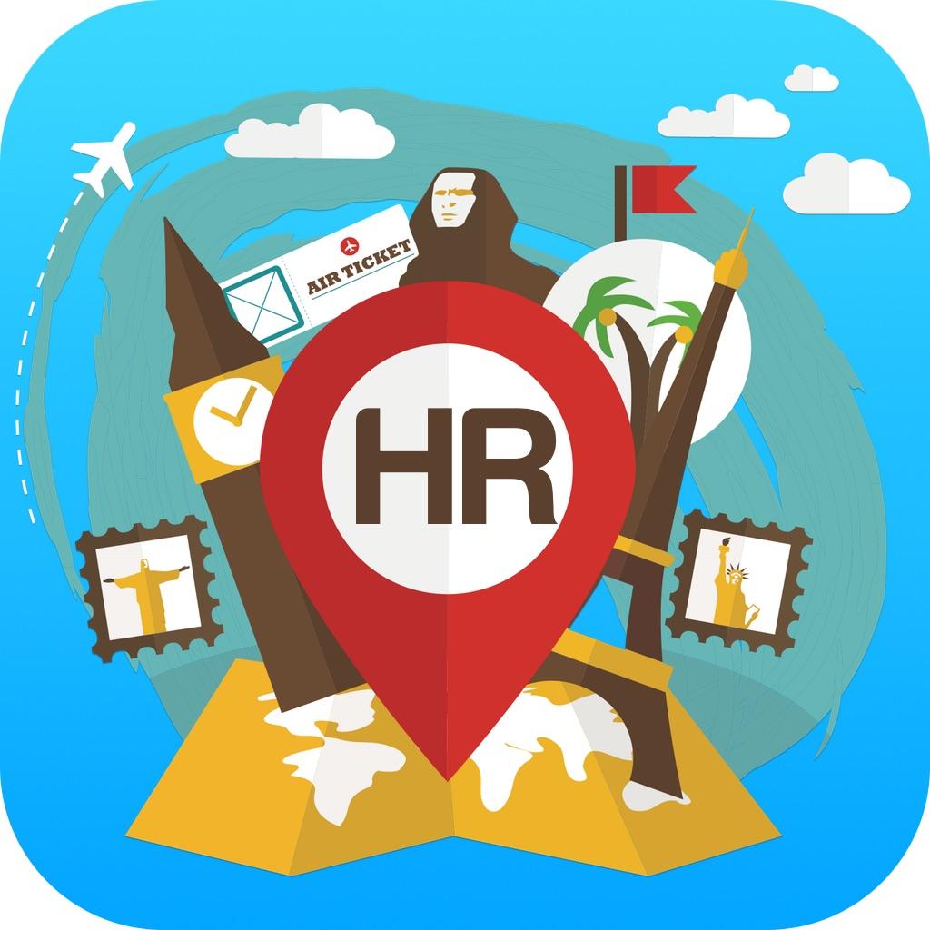 Kroatië Offline reisgids & kaart. Stadstours: Dubrovnik,Hvar,Istrië,Zagreb