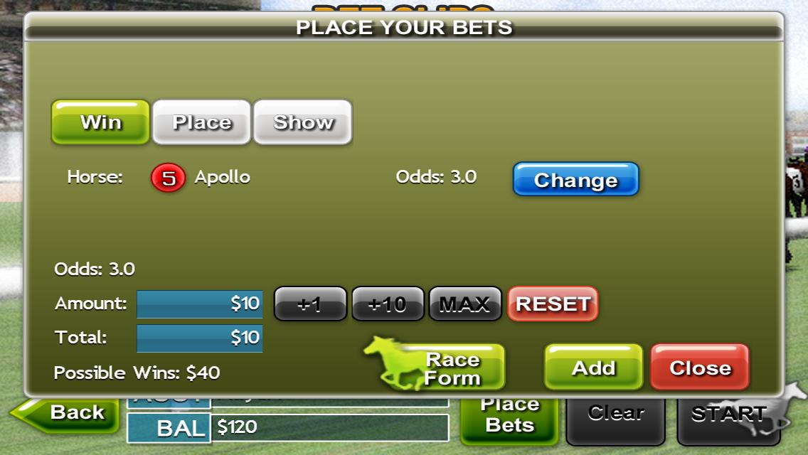 Virtual Horse Racing 3D Lite Screenshot