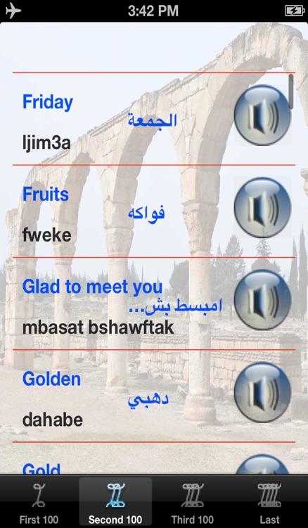 Learn Lebanese Words