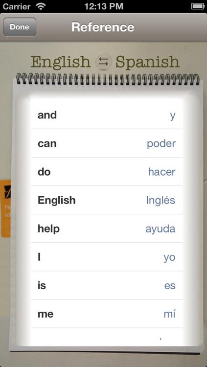 Vocabulary Trainer: English - Spanish screenshot-3