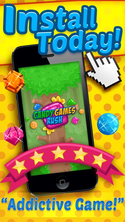 Jewel Games Candy Edition - Play Cute Match 3 Blitz Game For Kids HD FREE screenshot-4