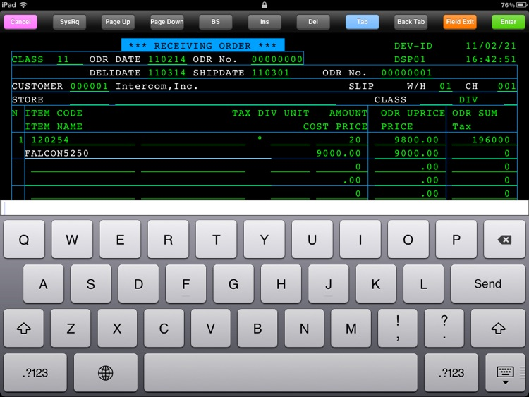 FALCON 5250 for iPad