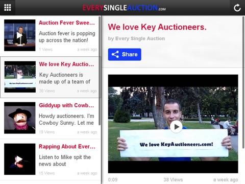 Screenshot of Every Single Auction