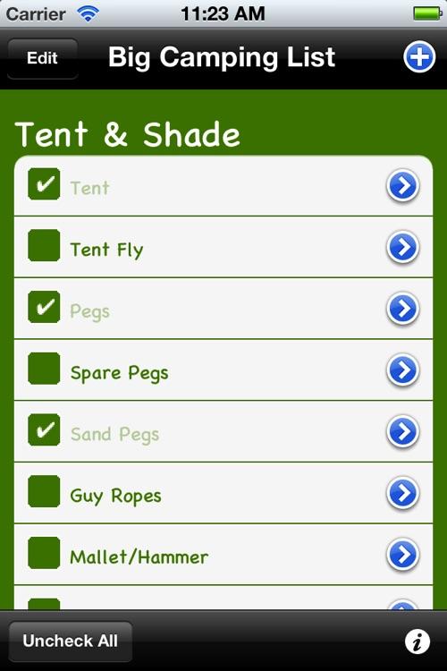 Big Camping List