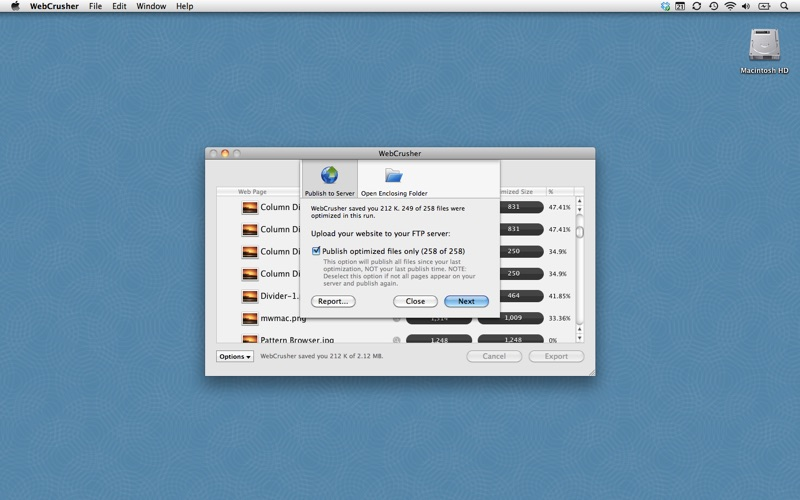 WebCrusher Screenshot