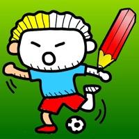 Fussball Malbuch Fur Kinder Spieler Ball Spielfeld Und