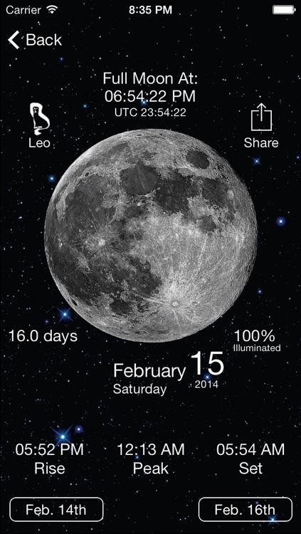 Solar Moon - Phase Calendar & Sun Info Tracker screenshot-3