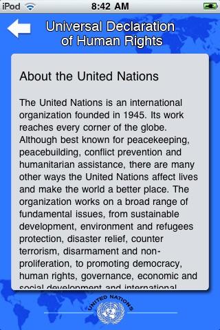 United Nations Declaration of Human Rights [UN] screenshot-4