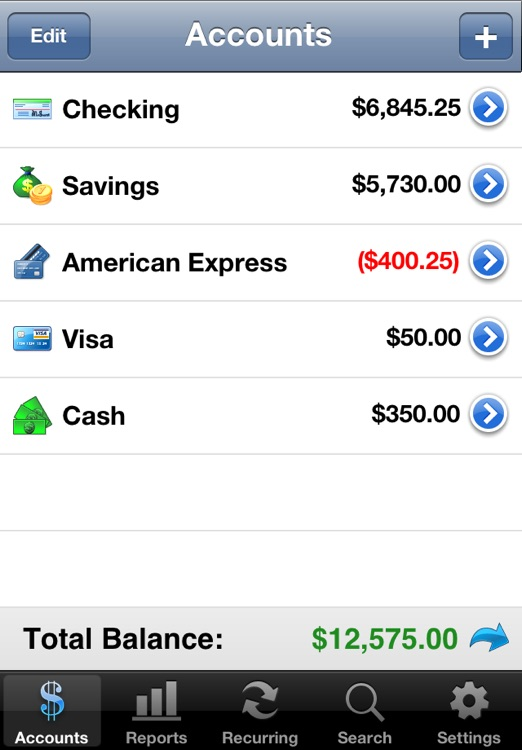 Accounts - Checkbook screenshot-1