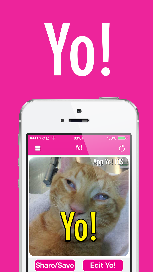 Yo! : A new way to say hi to your friend with Yo! selfie!