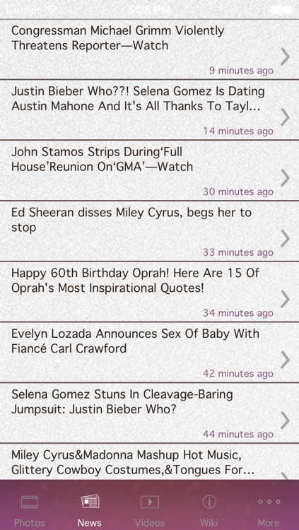 Juicy Celebrity News and Gossip App Free HD screenshot-3