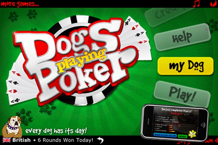 Dogs Playing Poker ~ free Texas hold'em game for all skill levels & dog lovers! screenshot-3