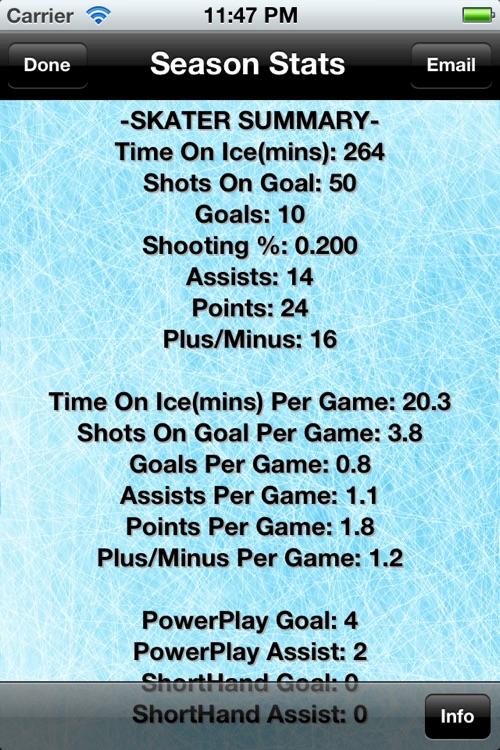 Hockey Stats Tracker Touch screenshot-3