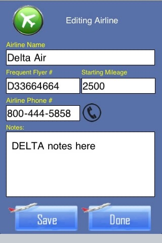 Frequent Flyer Mileage Tracker and Flight Log